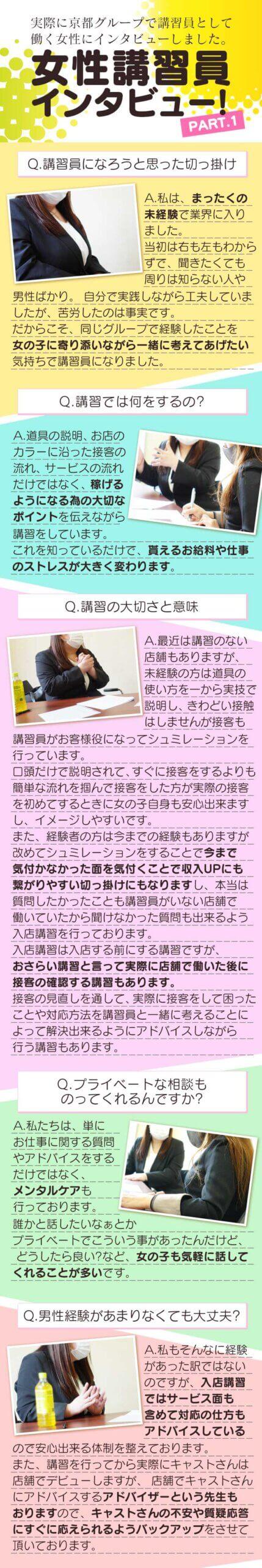 京都グループ女性講習員の写真1